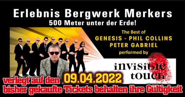 Phil Collins & Genesis & Peter Gabriel - performed by Invisible Touch // Erlebnisbergwerk Merkers