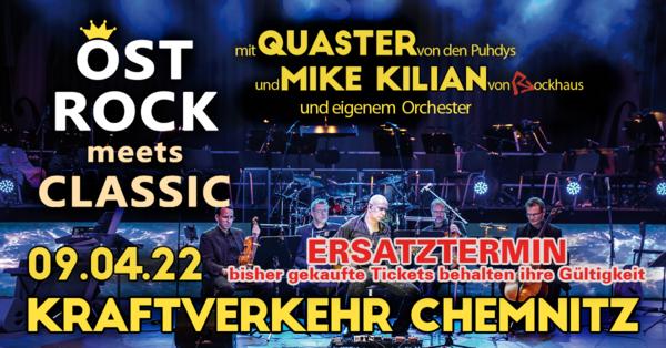 Ostrock meets Classic mit Quaster von den Puhdys und Mike Kilian von Rockhaus live im Kraftverkehr Chemnitz