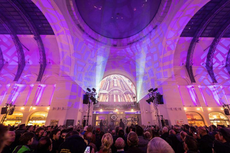 Multimediashow 120 Jahre Hauptbahnhof Dresden