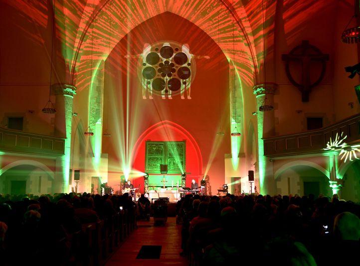 Nacht der erleuchteten Kirche, Thomaskirche Erfurt mit Purple Schulz
