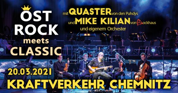 Ostrock meets Classic mit Quaster von den Puhdys und Mike Kilian von Rockhaus