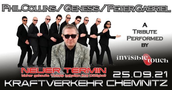 Invisible Touch - Die Musik von Phil Collins, Genesis und Peter Gabriel live im Kraftverkehr in Chemnitz