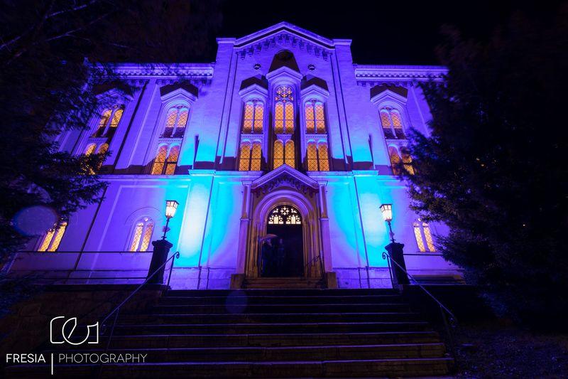 Nacht der erleuchteten Kirch in Eibenstock mit Purple Schulz