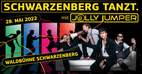 Schwarzenberg tanzt mit Jolly Jumper - der Partyband auf der Waldbühne Schwarzenberg