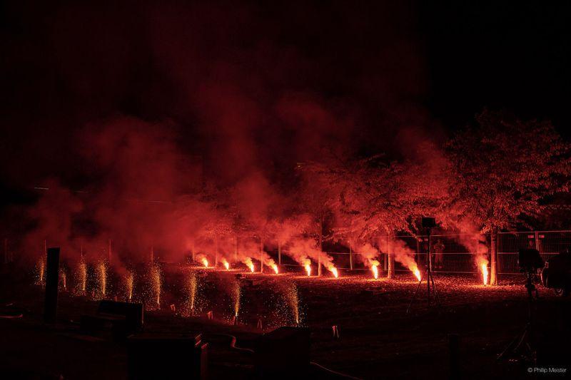"Multimediashow zu ""See in Flammen"" in Staßfurt"