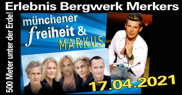 Münchener Freiheit & Markus (Ich will Spaß) im Erlebnis Bergwerk Merkers