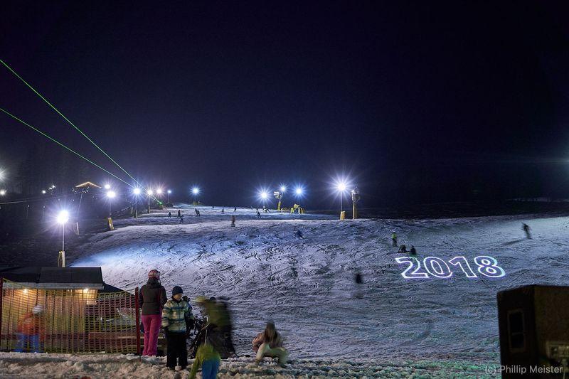 Innernachtsparty in der Ski-Arena Eibenstock